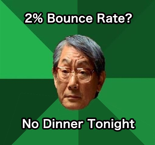 Bounce Rate meme