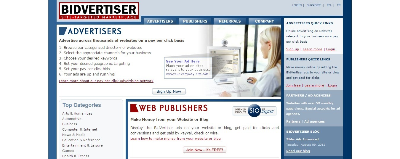 AdSense Alternatives: Bidvertizer