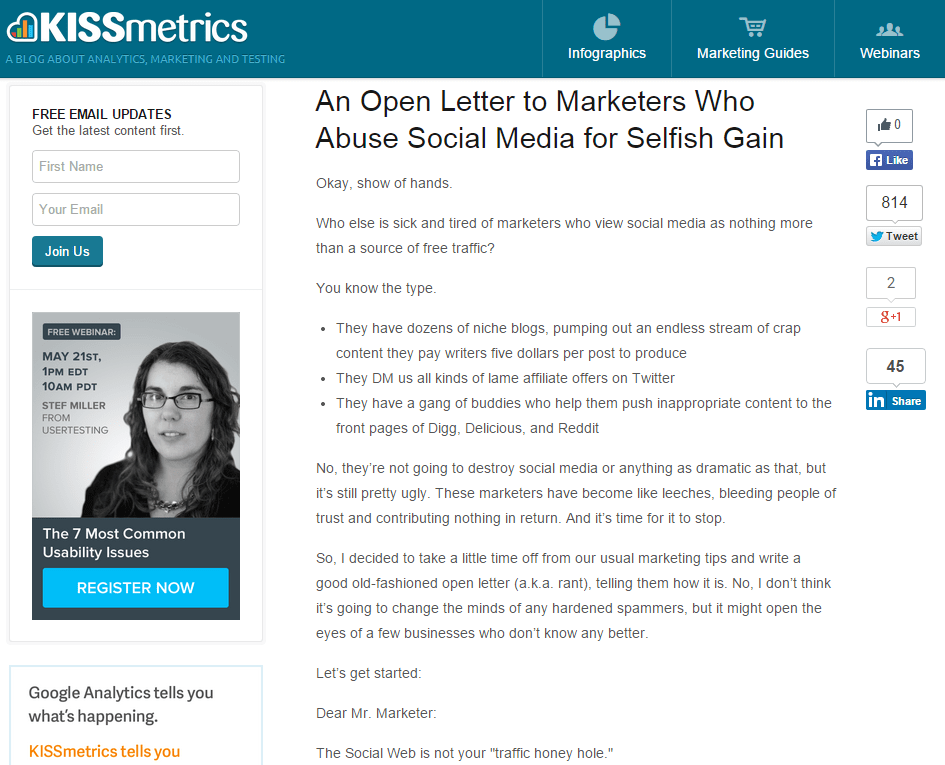 An Open Letter to Marketers Who Abuse Social Media for Selfish Gain