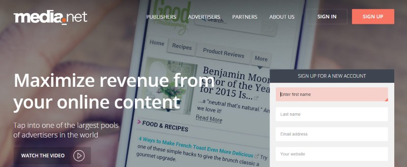 AdSense Alternatives: Media.net