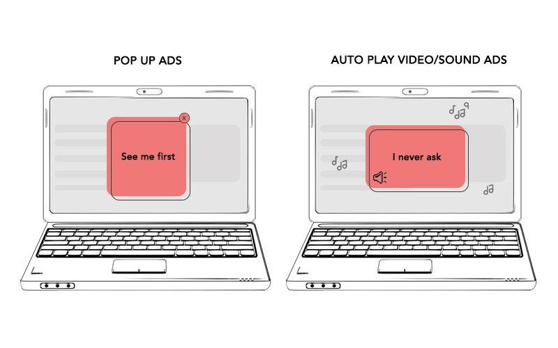 desktop based disruptive ads, defined by better ads standards