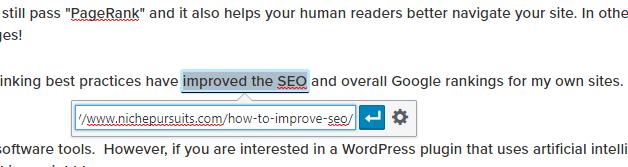 internal linking in wordpress