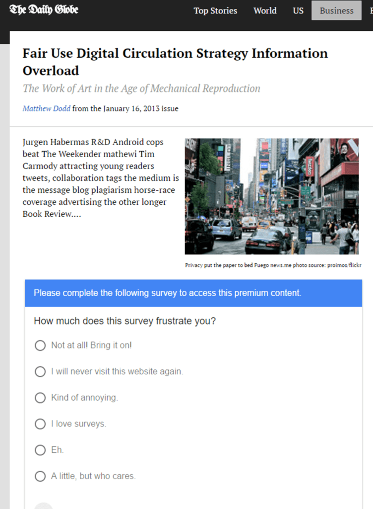 Google opinion rewards for publishers