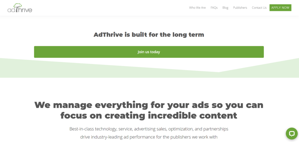 adthrive ad network