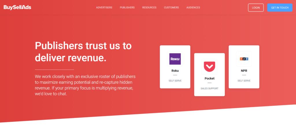 BuySellAds ad network
