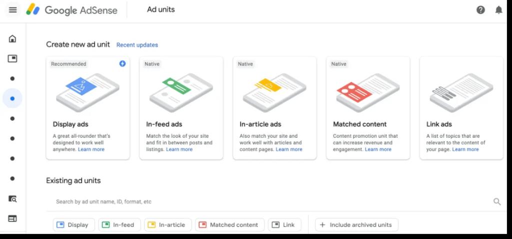 AdSense ad formats