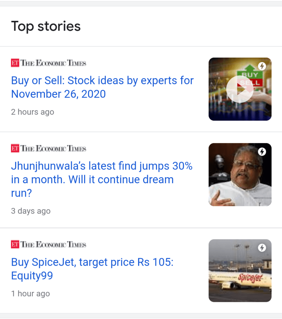 AMP - Top stories carousel